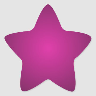 Pink Hot Pink and Black Plainly 3D Customizable Star Sticker
