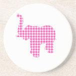 Pink Houndstooth Elephant