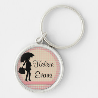 Pink Houndstooth New Mom : Keychain