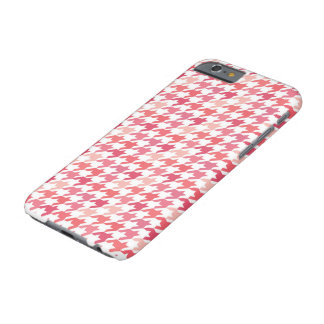 pink Houndstooth Pattern Barely There iPhone 6 Case