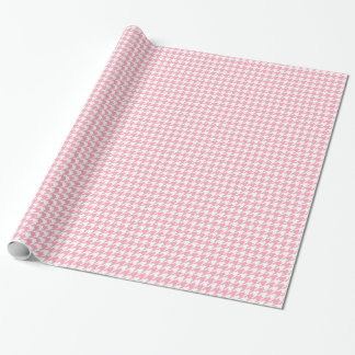 Pink Houndstooth Pattern Wrapping Paper