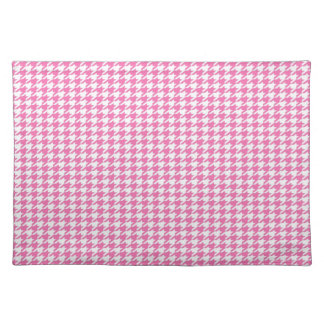 Pink Houndstooth Placemat