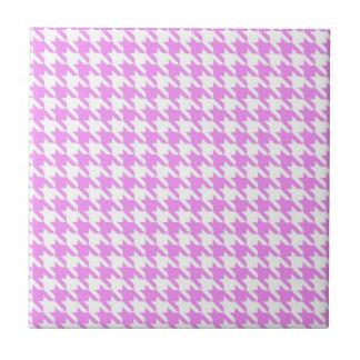 Pink Houndstooth Tile