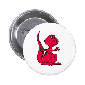 Pink Huggy Dinosaur Buttons