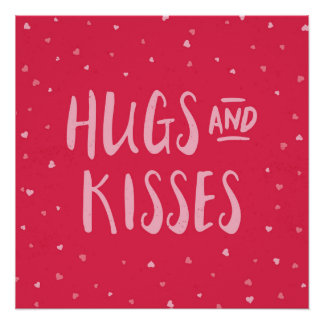 Pink Hugs and Kisses | Hearts | Valentine's Day