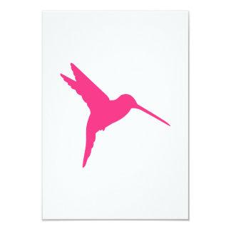 Pink Hummingbird 3.5x5 Paper Invitation Card