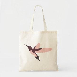 Pink Hummingbird Canvas Bag