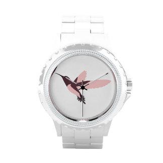 Pink Hummingbird Wristwatch