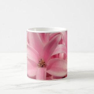 Pink hyacinth basic white mug