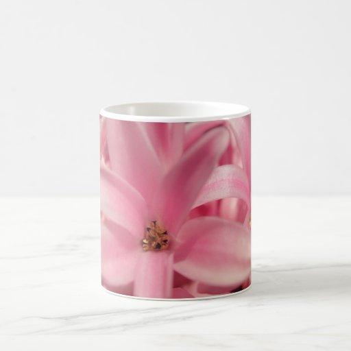 Pink hyacinth coffee mugs