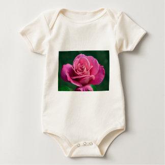 Pink Hybrid Tea Rose Rompers