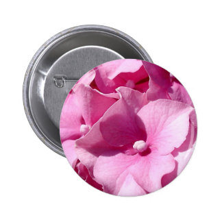 Pink Hydrangea badge/button 6 Cm Round Badge