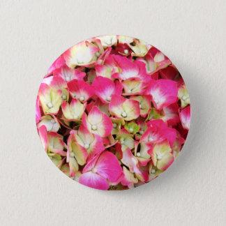 Pink Hydrangea Bouquet 6 Cm Round Badge