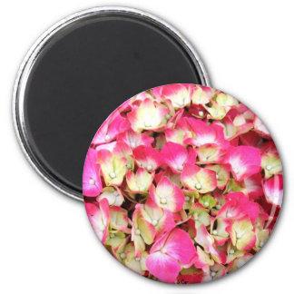 Pink Hydrangea Bouquet 6 Cm Round Magnet
