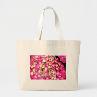 Pink Hydrangea Bouquet Large Tote Bag