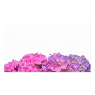 Pink Hydrangea business cards