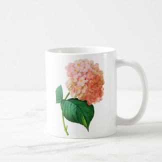 Pink Hydrangea by Pierre Joseph Redoute Basic White Mug