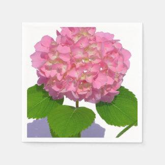 Pink Hydrangea Disposable Serviette