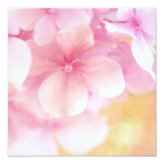 Pink Hydrangea Dream ... Square Invitation - Baby