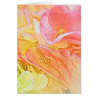 Pink Hydrangea Glow Greeting Card