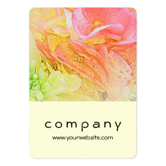 Pink Hydrangea Glow Pack Of Chubby Business Cards