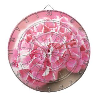 pink hydrangea in bloom dartboard