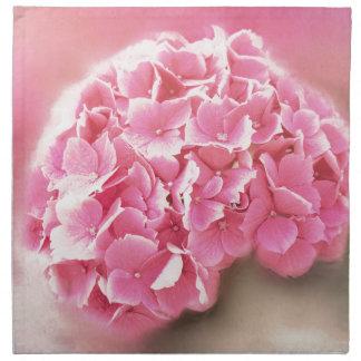 pink hydrangea in bloom napkin