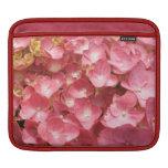 Pink hydrangea iPad sleeves