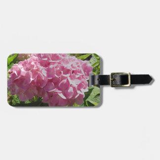 Pink Hydrangea Luggage Tag