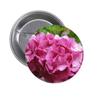 Pink Hydrangea Round Button