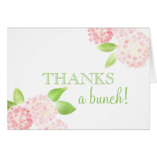 Pink Hydrangea Thank You Note Card
