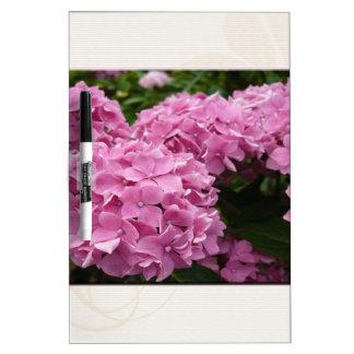 Pink Hydrangeas Dry Erase Board