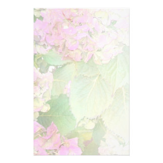Pink Hydrangeas Pale Blend Stationery