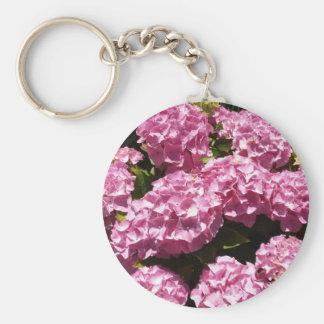 Pink Hydrangeas Photograph Key Ring