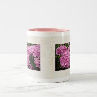 Pink Hydrangeas Two-Tone Coffee Mug
