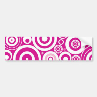 Pink Hypnosis Bumper Sticker Car Bumper Sticker