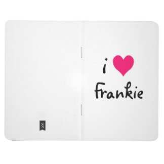 Pink I Love Frankie Journal