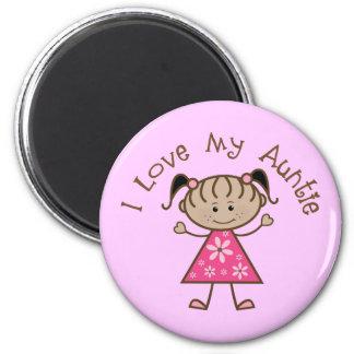 Pink I Love My Aunt Gift 6 Cm Round Magnet