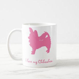 Pink I Love My Chihuahua Coffee Mug