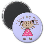 Pink I Love My Daddy Gift Refrigerator Magnet