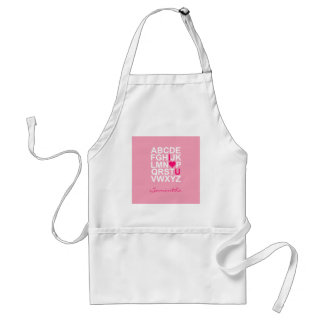 Pink I Love You Apron