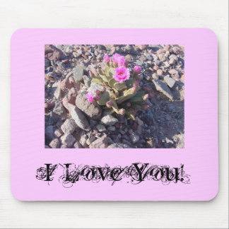 Pink I Love You! Mousepad