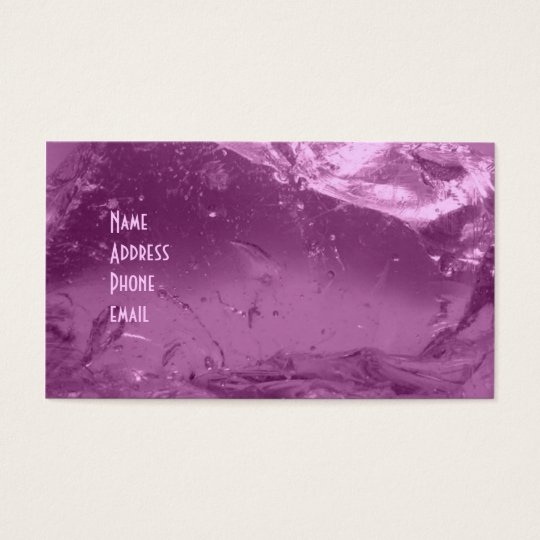 Pink Ice Business Card