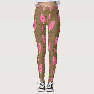 Pink Ice Cream Bars Leggings