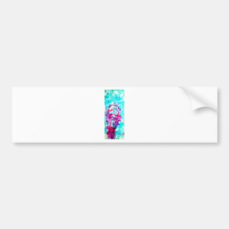 Pink ice cream in Blue water Bumper Stickers