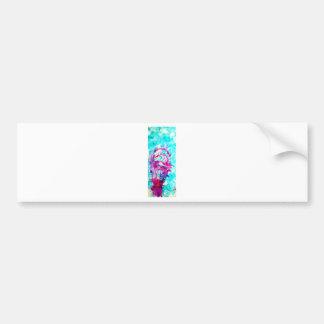 Pink ice cream in Blue water Bumper Sticker