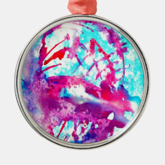 Pink ice cream in Blue water Christmas Ornament