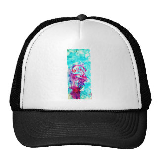 Pink ice cream in Blue water Hats