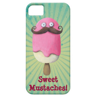 Pink Ice Cream with Moustaches iPhone 5 Covers