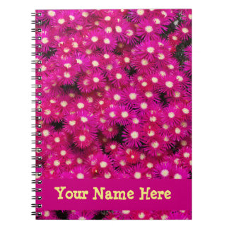 Pink Ice Plant Flowerw Note Book